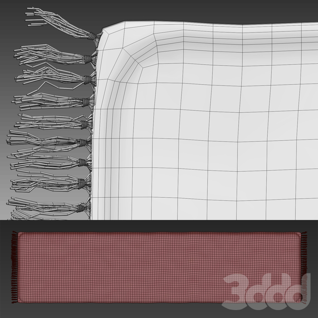 Плетеный коврик с узором - серый