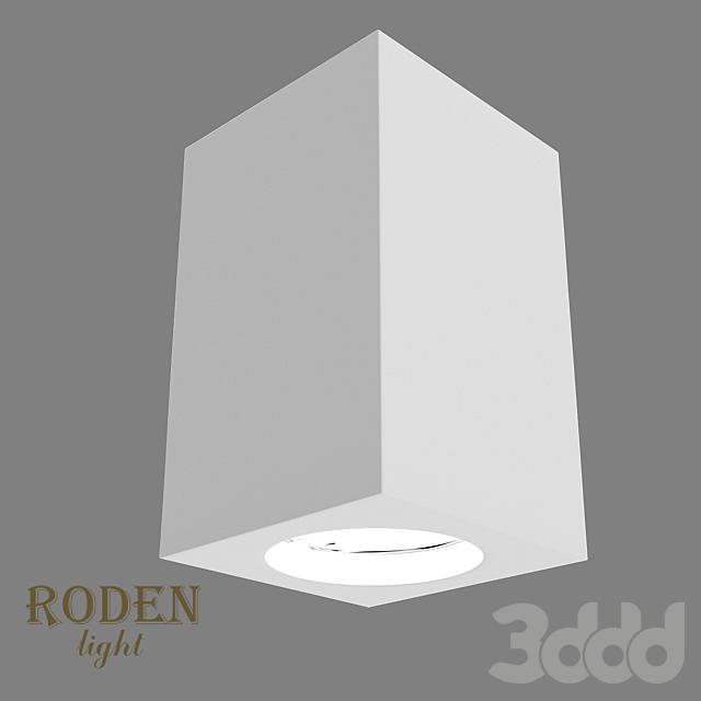 OM Универсальный, накладной или врезной гипсовый светильник RODEN-light RD-51 MR-16
