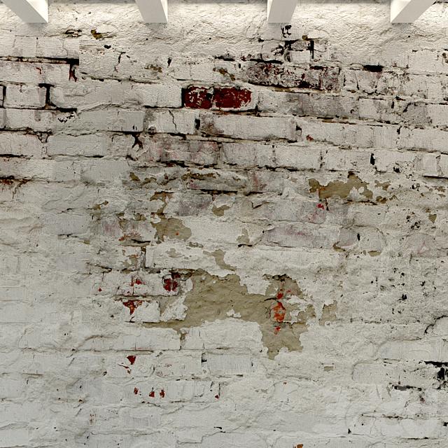 Кирпичная стена. Старый кирпич. 92