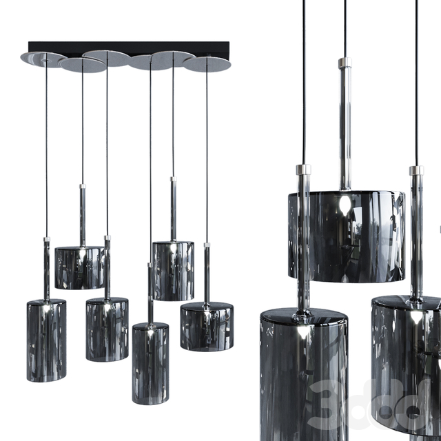 Подвесной светильник AXO Light Spillray SP lamps 6 black glass