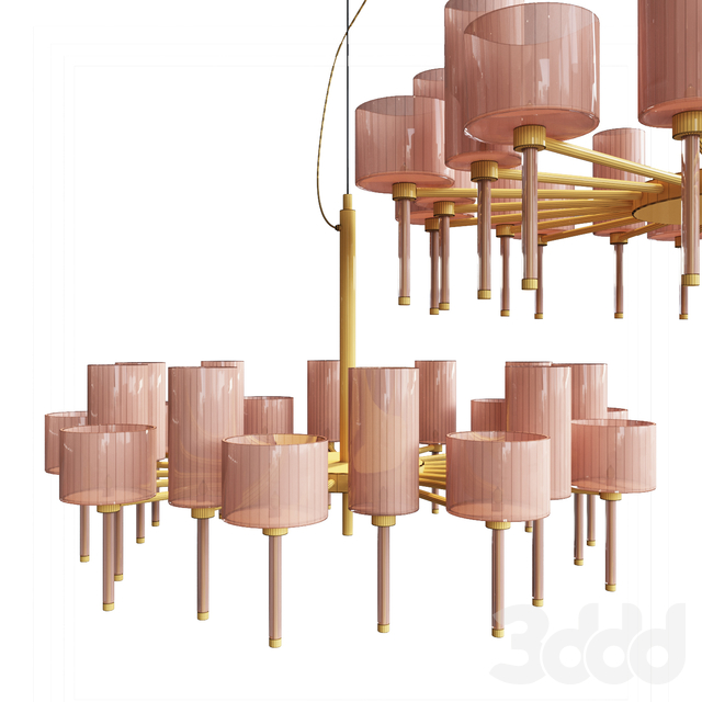 Люстра AXO Light Spillray SP lamps 20 crystal glass