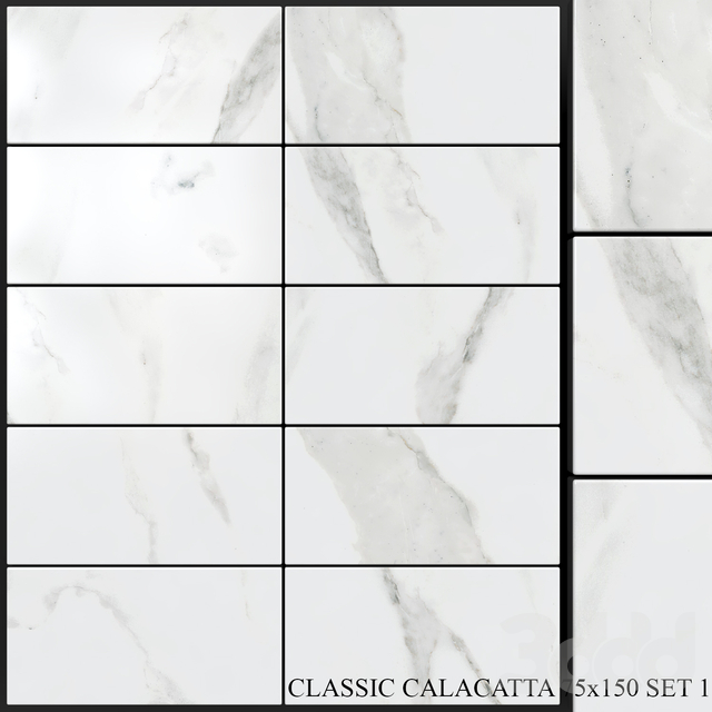 Yurtbay Seramik Classic Calacatta 75x150 Set 1