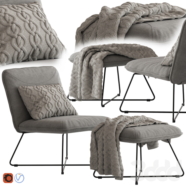 Yolanda Lounge Chair and Ottoman