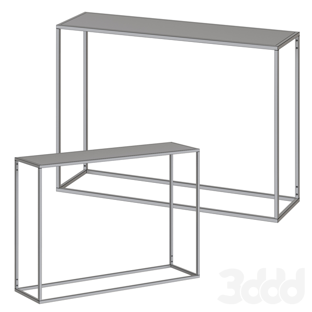 Gold Coast Mirrored Console Table