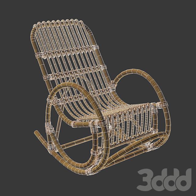 Кресло-качалка детское из ротанга, Malu