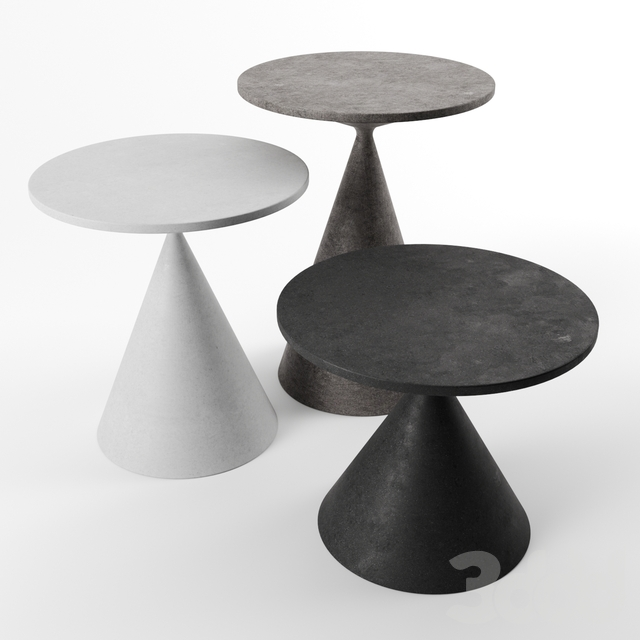 Mini clay tables by Desalto