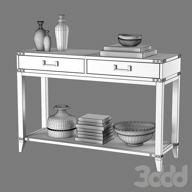 CAYDEN CAMPAIGN 2-DRAWER CONSOLE TABLE