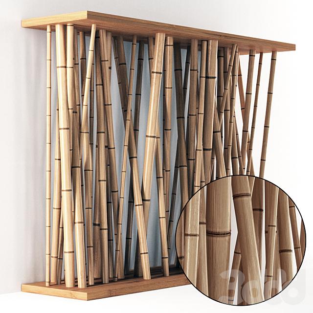 Bamboo wall decor / Перегородка из бамбука