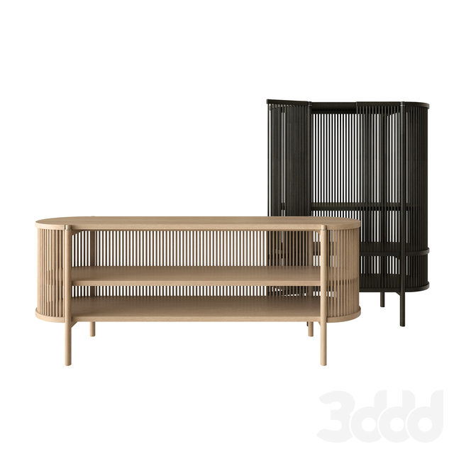 Bastone sideboard and cabinet