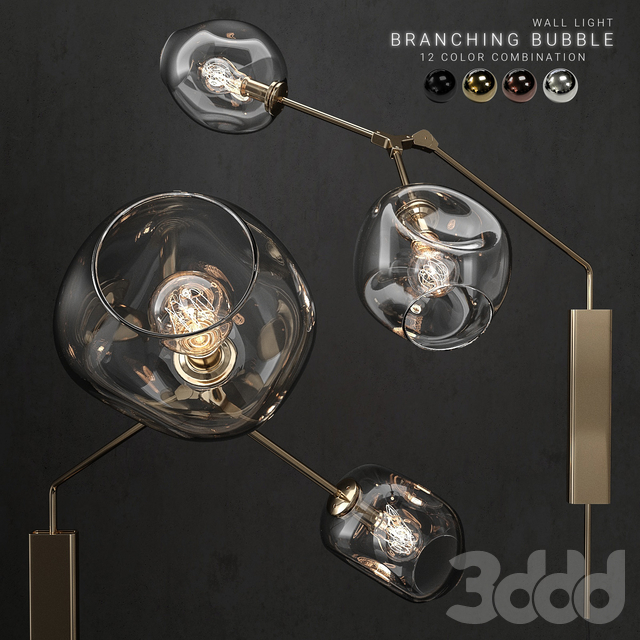 Branching bubble wall light