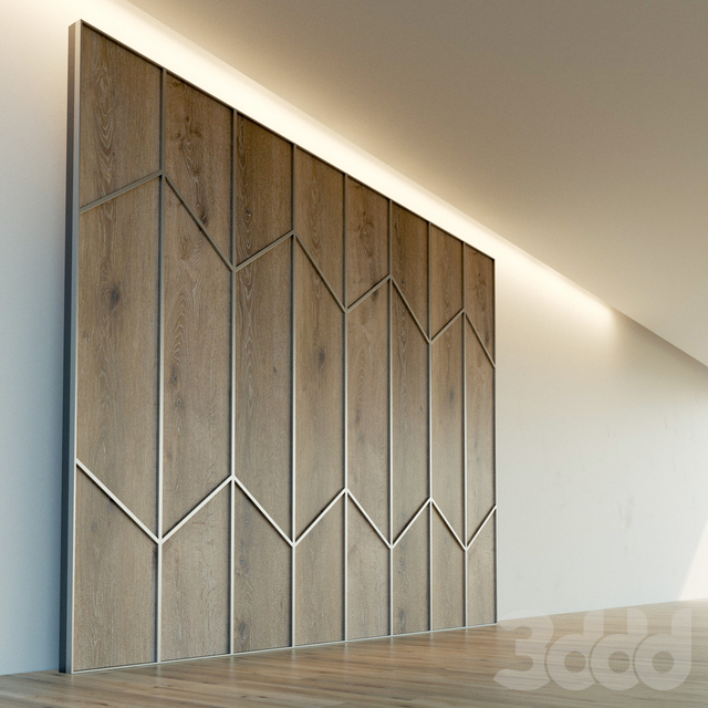 Стеновая панель из дерева. Декоративная стена. 78