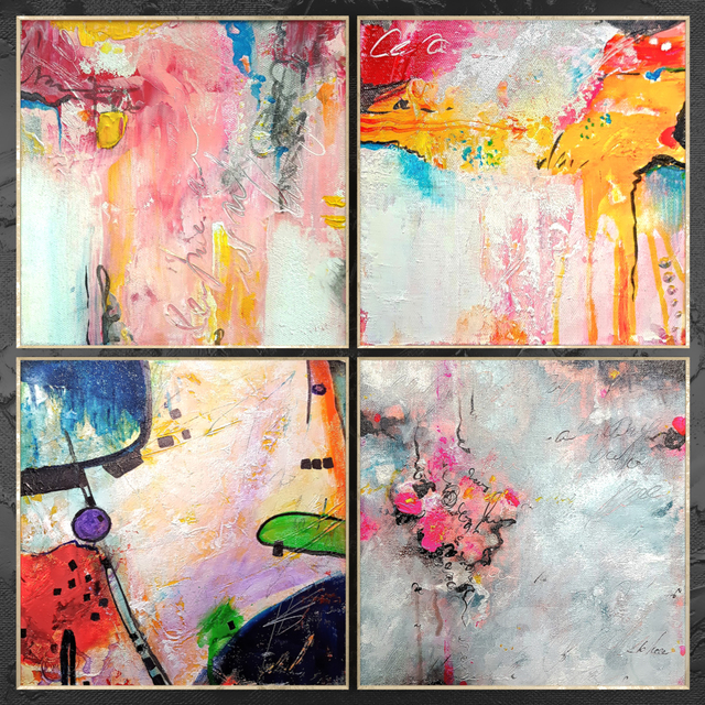 Paintings abstract | set 458