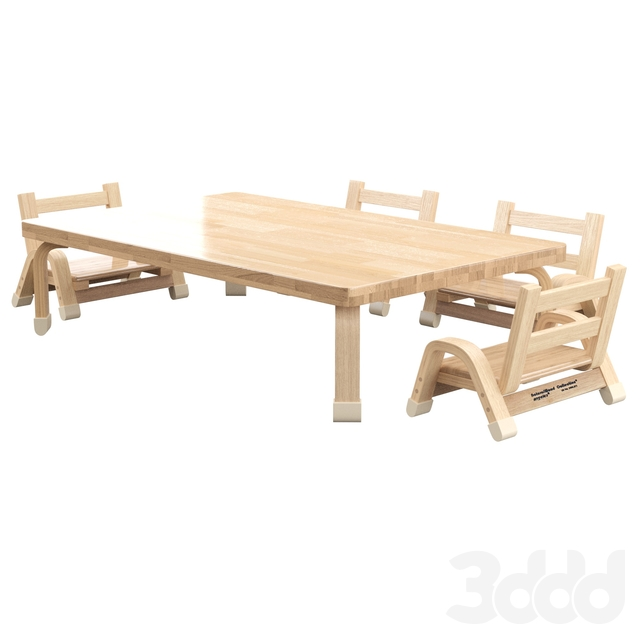 Kids 5 Piece Writing Table and Chair Set