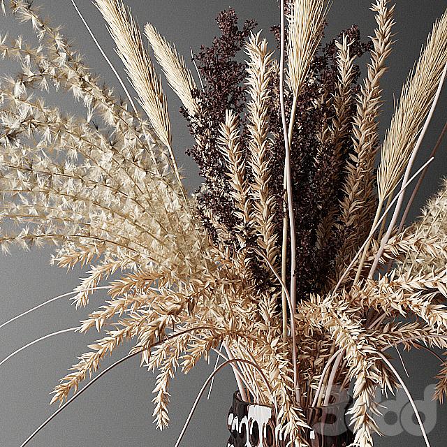 Dry bouquet in the decorative vase | Букет из сухоцветов в декоративной вазе