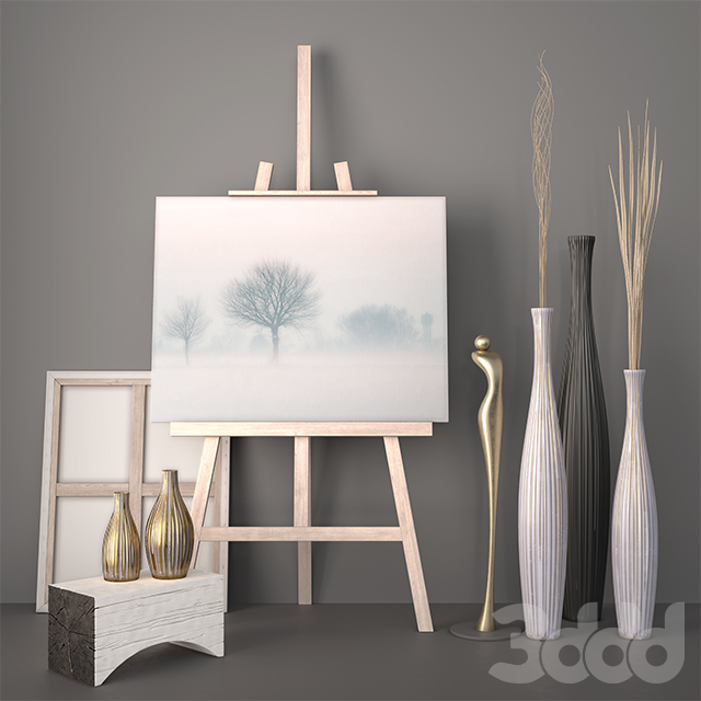 Decor – Vases, Dry grass, Statuette