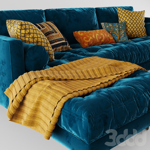 Article Sven Cascadia Blue Left Sectional Sofa