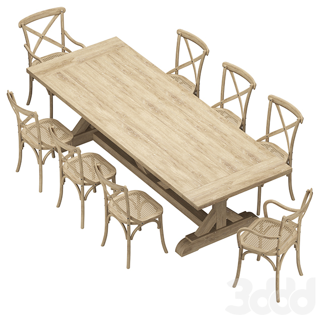 Restoration Hardware - Madeleine Chairs And Salvaged Table