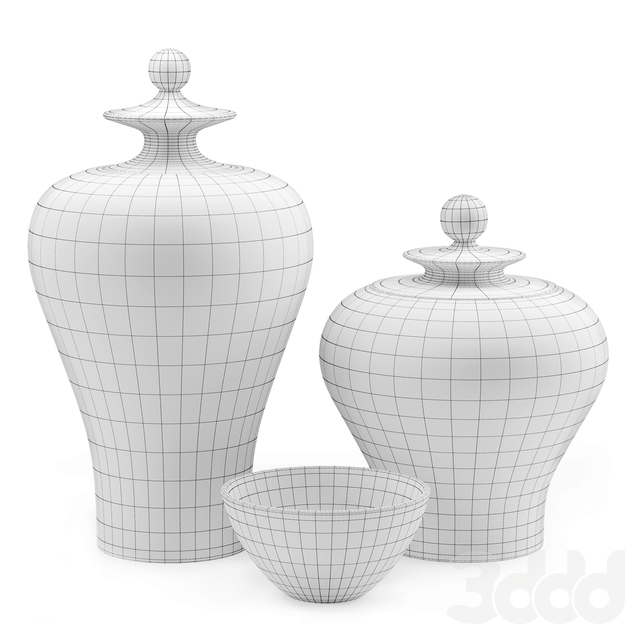 Zuo Modern Mar Temple Jar Blue and White Vases