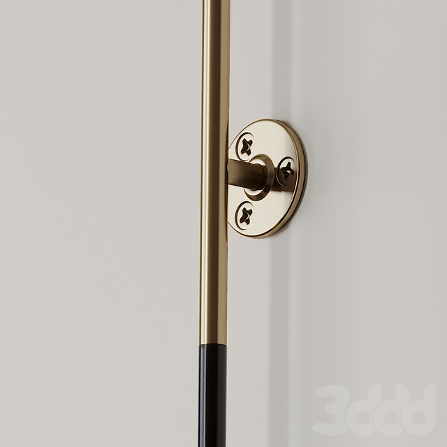 Leather Wrapped Linear Wall Sconce by Katy Skelton