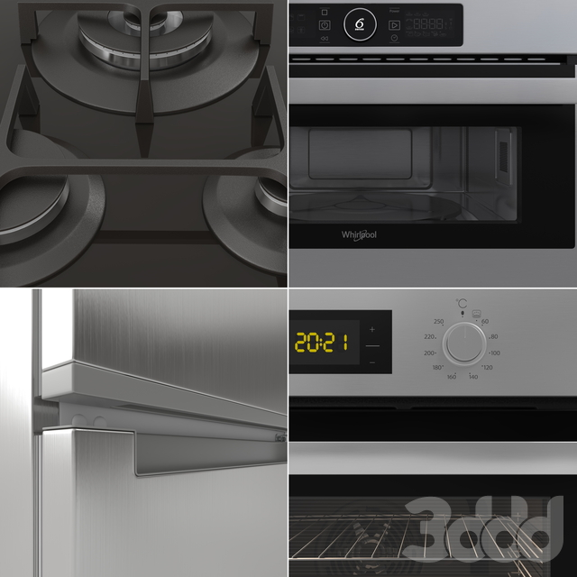 Набор бытовой кухонной техники Whirlpool \ Kitchen appliances Whirlpool set