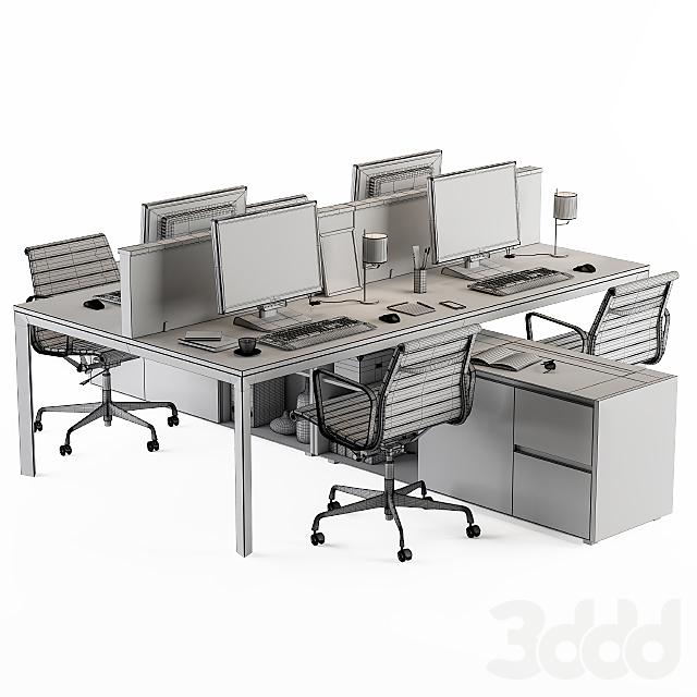 Office Furniture Employee Set