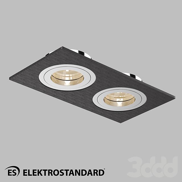 ОМ Точечный светильник Elektrostandard 1051/2 BK