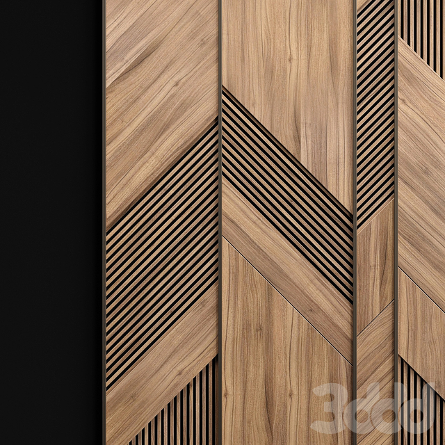 Wooden panels with planks
