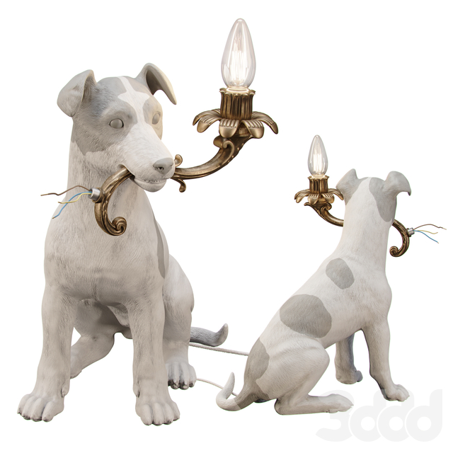 5 MINUTES ALONE...(Dog lamp)