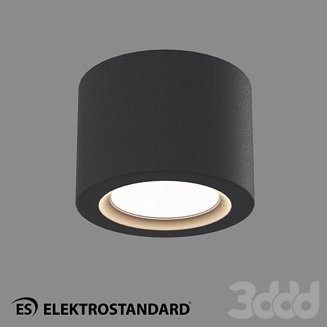 ОМ Потолочный светодиодный светильник Elektrostandard  DLR026 6W 4200K black