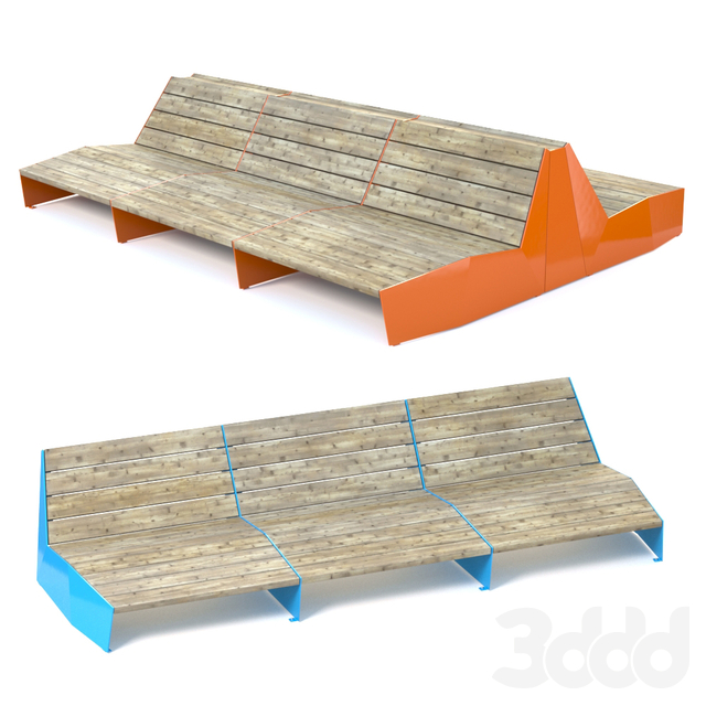 Vestre BLOC Sun bench / 2