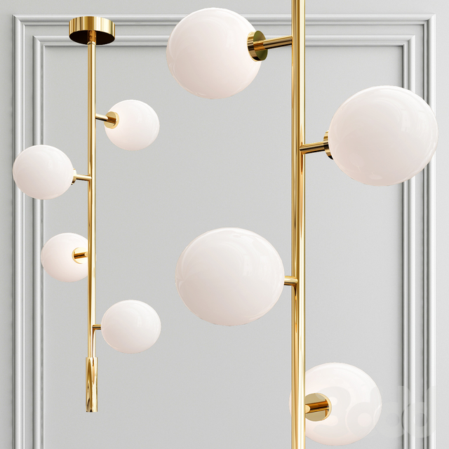 Bubble Chandelier vertical