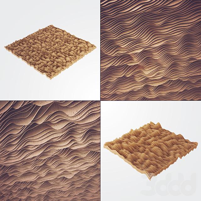 Параметрический потолок из дерева