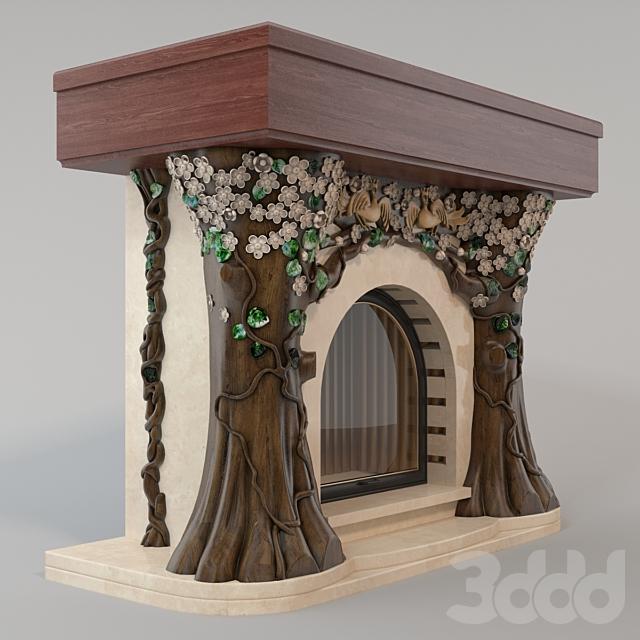 Камин сказочный сад