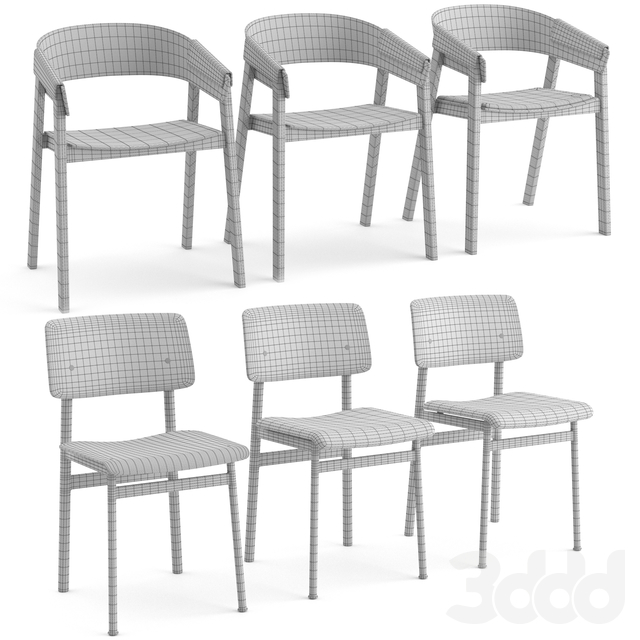Cover chair + Loft chair by Muuto