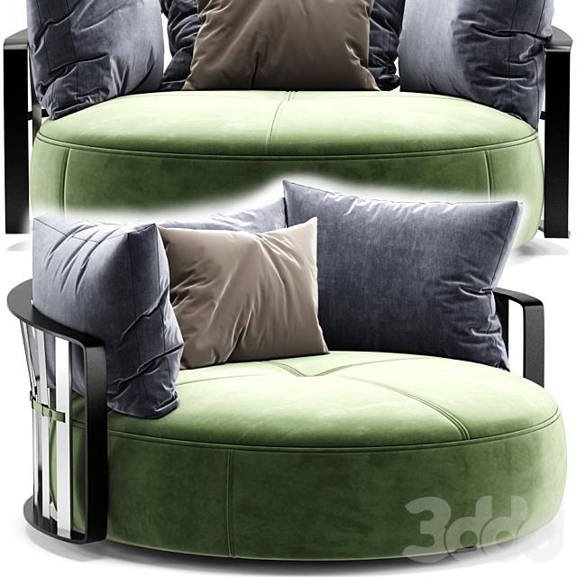 SCARLETT round sofa By Poltrona Frau