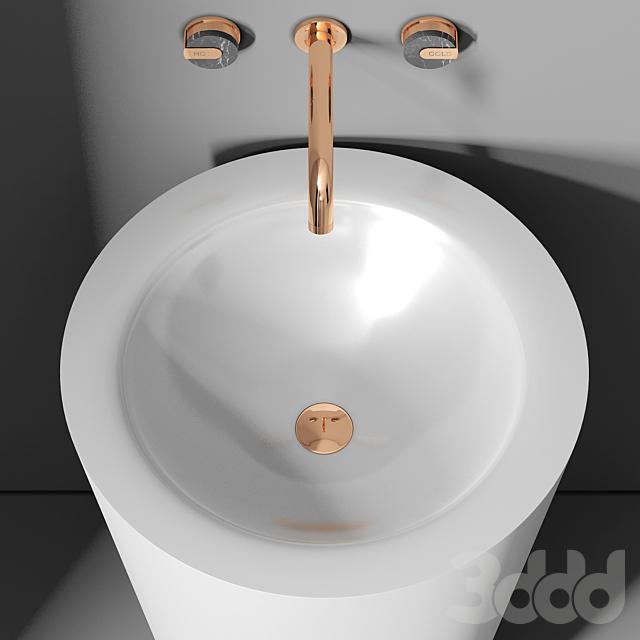 раковина Planit Trench high basin & Graff Mod plus faucet