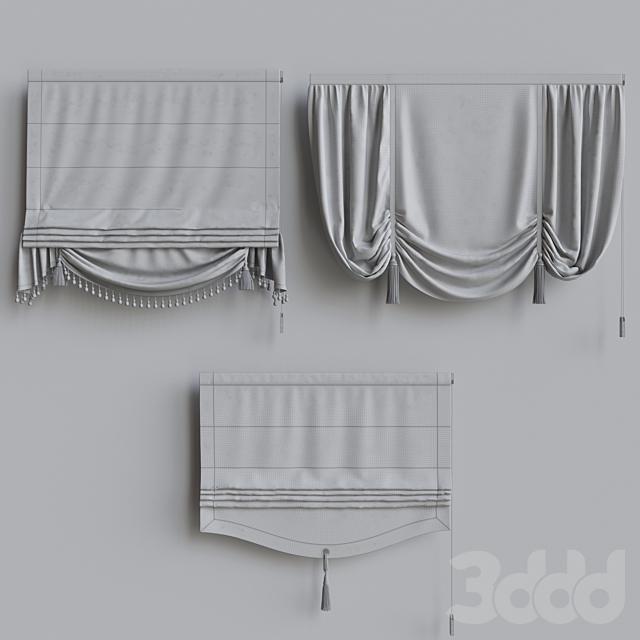 Набор классических римских штор 3