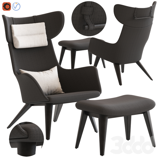 Coco Republic Soho Outdoor Occasional Chair and Footstool