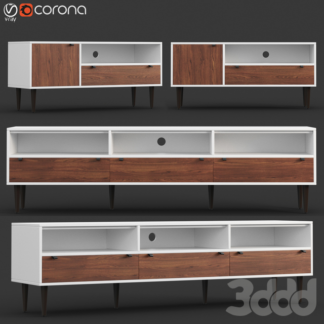 Envelo Collection Walnut Media Units
