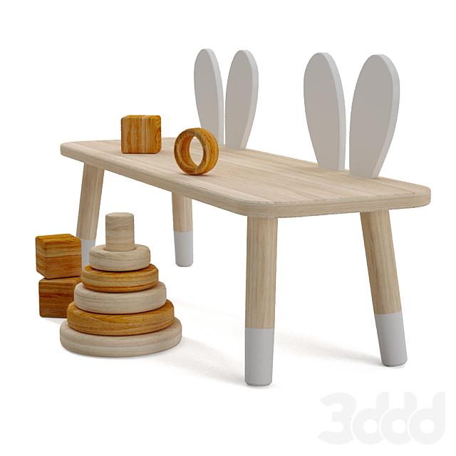 Zara Home Rabbit Kids Bench