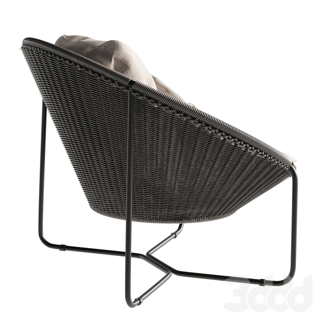 Morocco Graphite Oval Lounge Chair Crate and Barrel