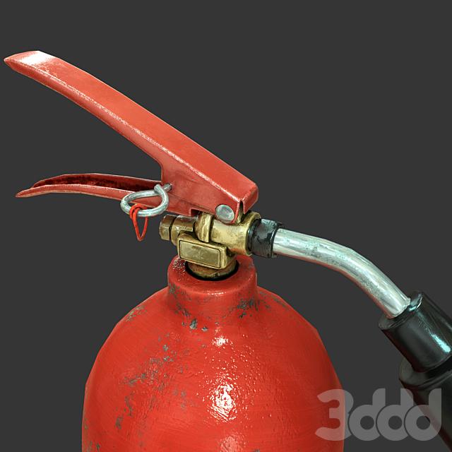Огнетушитель (Low Poly PBR)