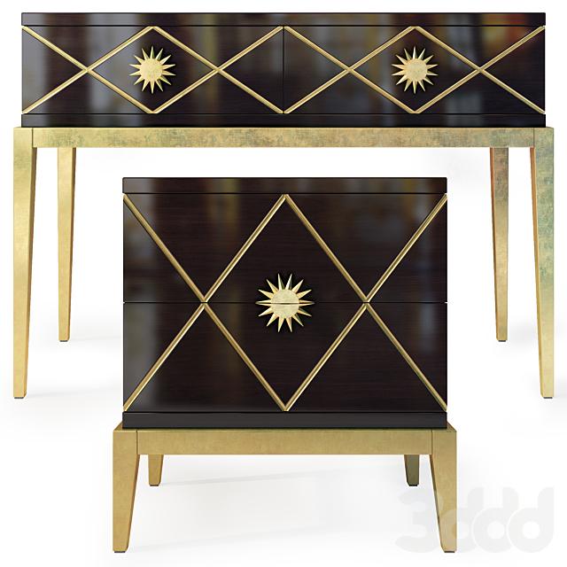 Комод / консоль и тумба Gatsby. Dresser, nightstand by Cavio Casa
