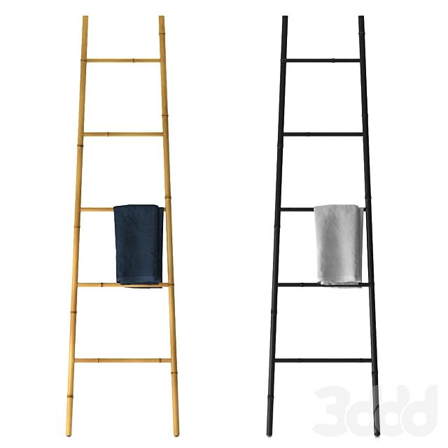 Bamboo Ladder Towel Rail