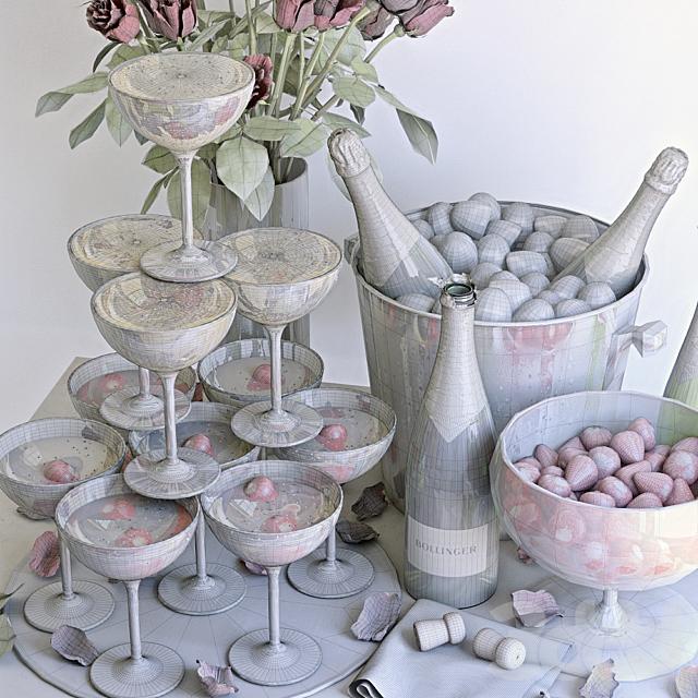 Декоративный набор с шампанским