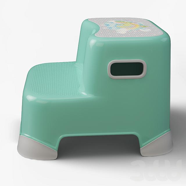 Табурет-стремянка детский для ванной комнаты
