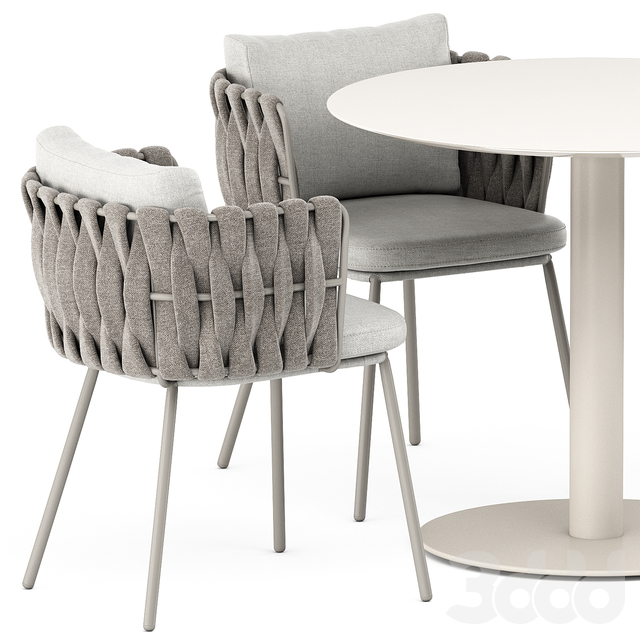 Tosca armchair and T-table by Tribu