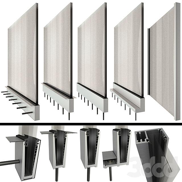 Стеклянные перила ограждение в стиле high-tech /  Glass railing handrails