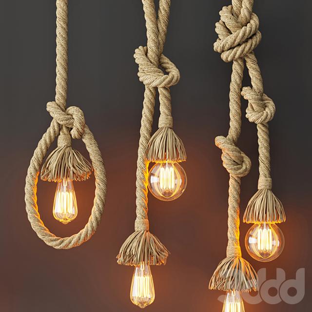 Подвесной светильник Rope Double