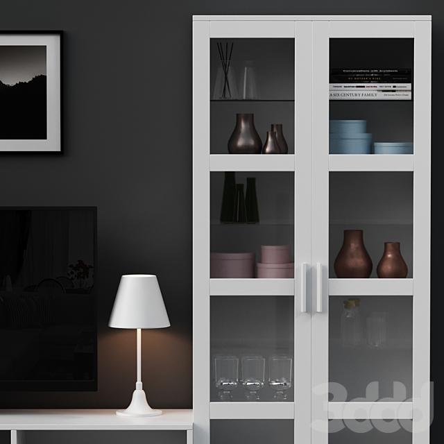 IKEA BRIMNES TV Storage with decoration set